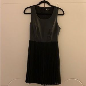 Sparkle & Fade Vegan Leather Pleated Dress, size 4